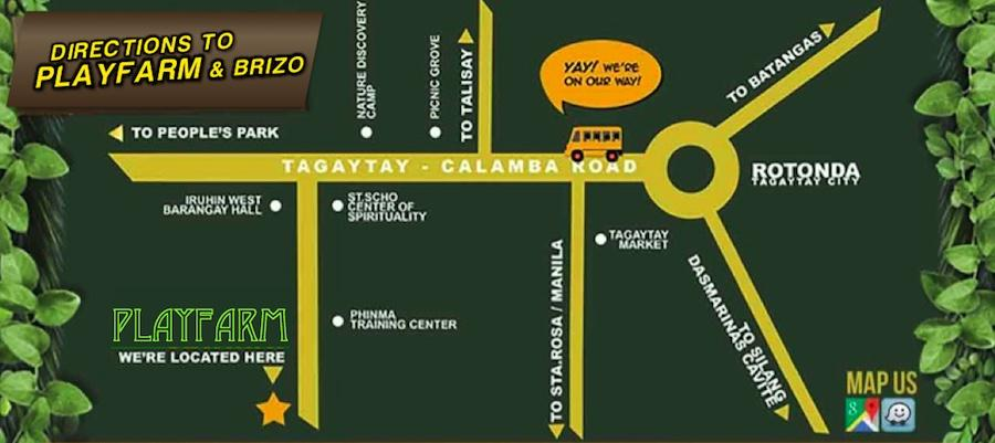 Directions to Playfarm - Team Building Venue & Educational Field Trips